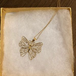 Jewelry - 14kt Gold Butterfly Necklace